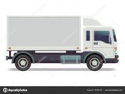 Small Truck, Van Isolated On White Vector Illustration — Stock ...