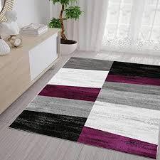 vimoda teppich geometrisches muster meliert in lila grau weiß und schwarz maße 80 x 150 cm