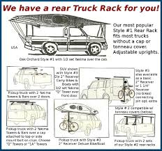 Oak Orchard Canoe Kayak Experts Pick Up Truck Rear Racks Rack Kayaks ...