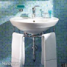 installing a bathroom sink wall hung sink family handyman