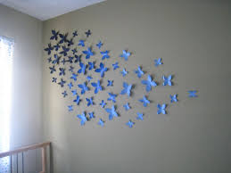 Wall Decoration Ideas With Paper Beautiful Blue Flower Blossom Papercraft Handmade Ad Extraordinary Diy