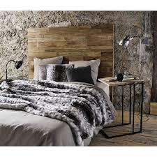 beistelltisch aus tannenholz und metall schwarz maisons du monde