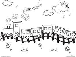Choo Train Coloring Page