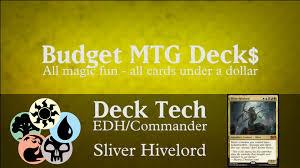 budget sliver hivelord edh commander sliver tribal youtube