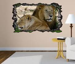 3d wandtattoo löwen afrika raubkatze löwe selbstklebend wandbild wandsticker wohnzimmer wand aufkleber 11o736 wandtattoos und leinwandbilder günstig