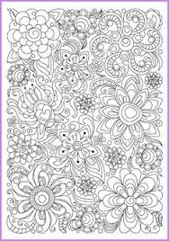 Adults And Children Coloring Page PDF Printable Doodle Flowers Zendoodle Zentangle Inspired