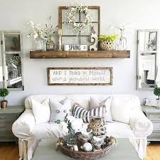 Rustic Living Room Decor With Floating Shelves Ideas