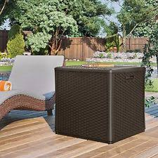 Suncast Patio Storage Box by Suncast Storage Cube Resin Wicker 60 Gallon Ebay