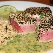 cuisiner thon frais thon frais et sauce beurre wasabi recettes allrecipes québec