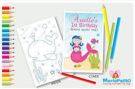 6 Mermaid Coloring Books Under The Sea Birthday Party