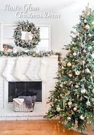 Rustic Glam Christmas Tree And Mantel
