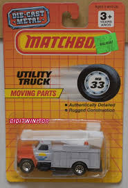 100 Utility Truck Parts MATCHBOX 1990 MOVING PARTS UTILITY TRUCK 33 E 0014559 1111