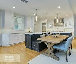 Kitchen Island With Built In Seating Bench Featuring An