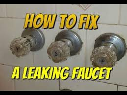 Leaky Bathtub Faucet Handle by How To Fix A Leaking Bathtub Faucet Youtube