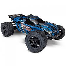 Traxxas Rustler 4WD 1/10 Stadium Truck Traxxas Rustler 110 Rtr 2wd Electric Stadium Truck Rock N Roll W White Tra370541wht 370764rnrs Vxl Brushless Xl5 Battery And Nitro 25 With Tsm Blue Tra370541blue 4wd Scale Rc Car Wikipedia Traxxas Rustler Blue Brushed Tq 24