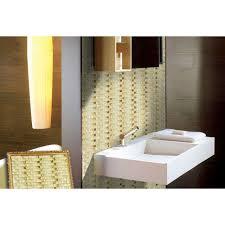 painted wavy mosaic tile sheets bathroom wall tiles glass