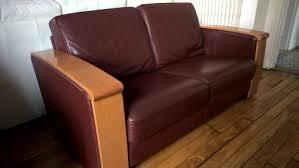 canapé jacques leleu canape cuir et bois jacques leleu meuble d occasion mymobilier