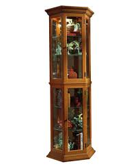 curio cabinet in english oak ii by pulaski home gallery stores