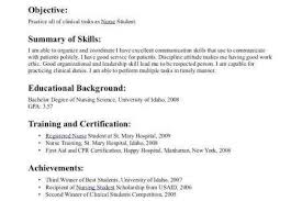 Free Resume Sample A Nursing Student With No Experience