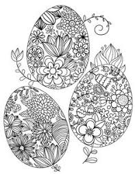 Free Printable Happy Easter Adult Coloring Page Download It In