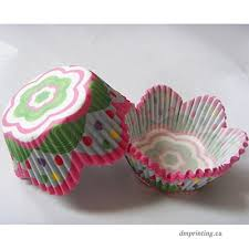 Colorful Flower Petal Muffin Wedding Cupcake Liners Paper Baking