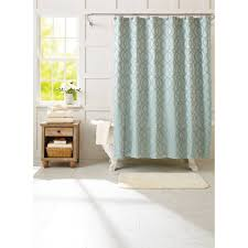 Walmart Bathroom Curtains Sets by Better Homes And Gardens 13 Piece Trellis Textured Fabric Shower