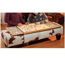build your own jigsaw puzzle tray using this free plan