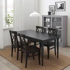 ingatorp ingolf tisch und 4 stühle schwarz braunschwarz