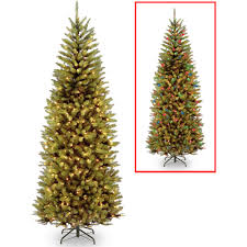 Pre Lit Led Christmas Trees Walmart by 8 Ft Pre Lit Slim Christmas Tree Christmas Tree
