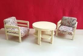 details zu sessel mit tisch 30 er jahre puppenstube holz möbel paul hübsch wohnzimmer