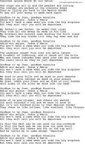 Joan Baez Song - Deportee(Plane Wreck At Los Gatos), Lyrics We Rode In Trucks Rolling Stone Pin By Courtney Clem On Where I Grew Up Pinterest Chillin It Cole Swindell Music Lyrics Lyrics In Truckdomeus Luke Bryan Pandora Trucks The Wandering Rver Spring Breakup Youtube Codys Truck Gmc Duramax 2500hd White Tints Chrome