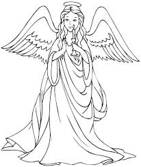Christian Angels Coloring Page For Preschool