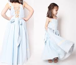 Childrens Vintage Baby Blue Long Flowergirl Dress Kids Girls Pastel Via Etsy