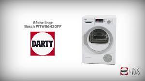 sèche linge bosch wtw86430ff démonstration darty