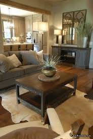 Modern Rustic Design Really Like The Coffee Table And Against Wall Use For TV Console