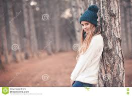 Teenage Girl In Winter Clothes