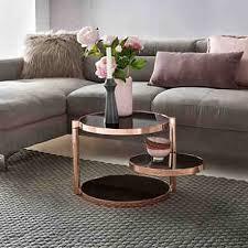 couchtisch glas ø 82 cm metall wohnzimmertisch rund sofatisch wohnzimmer moderner kaffeetisch schwarz wohnling