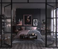 deko ideen schlafzimmer einrichtung in grau und rosa
