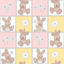100 Flannel Flower Glass Buy Fluffy Bunny By Shelly Comiskey For Henry Bunny On