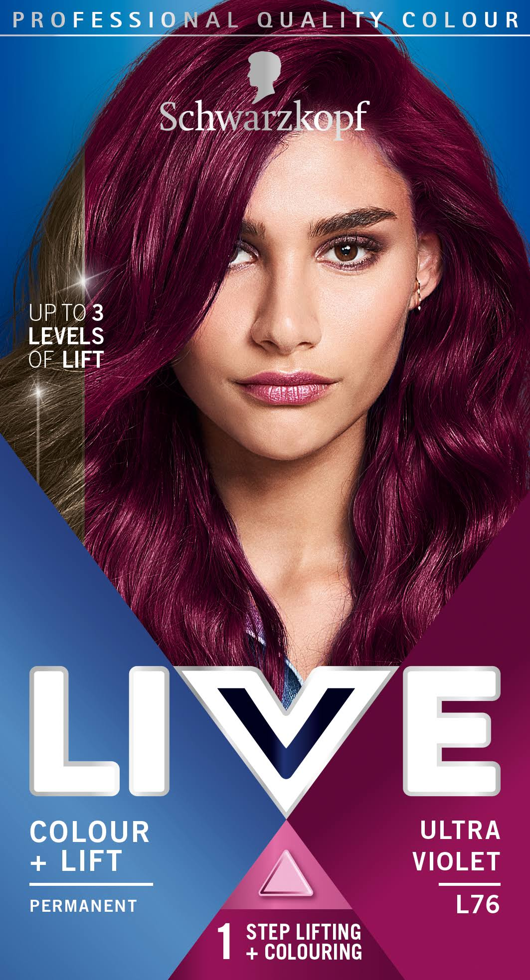 Schwarzkopf Live Intense Colour and Lift Permanent Hair Dye - L76 Ultra Violet