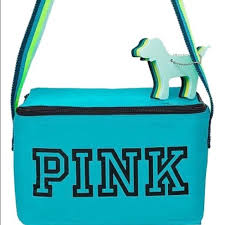 VS PINK Blue Lunch Box Cooler