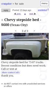 Best Chevy Stepside Bed For Sale In League City, Texas For 2019