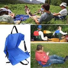 Outdoor Beach Chair Light Weight Portable Folding Chair Cushion Beach Grass  Camping Chair For Hiking Fishing Picnic