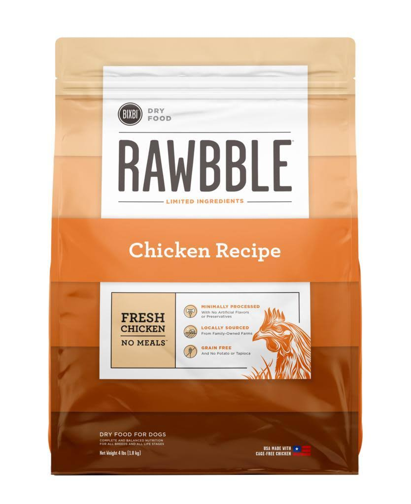 Rawbble Dry Food Chicken Recipe 4 lb