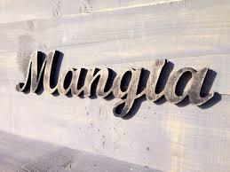 Italian Sign Mangia Kitchen Rustic Decor Eat