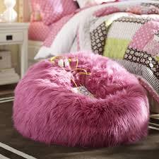 Deep Pink Fur Rific Beanbag