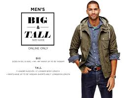Mens Big Tall Size Guide Online Only
