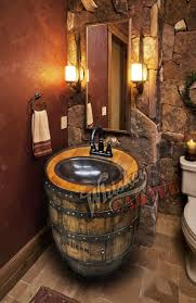 Whiskey Barrel Sink Hammered Copper Rustic Antique Bathroom | Etsy 50 Bathroom Ideas For Guys Wwwmichelenailscom Rustic Decor Ideas Rustic Bathroom Tub Man Cave Weapon View Turquoise Floor Tiles Style Home Design Simple To Mens For The Sink Design Decorating Designs 5 Best Mans 1 Throne Bathrooms With Grey Walls And Black Cabinets Grey Contemporary Man Artemis Office Astounding Modern Bathrooms Image Concept Bedroom 23 Decorating Pictures Of Decor Designs 2018 Trends Emily Henderson 37