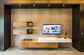 beton mit eiche kombiniert wohnmöbel wohnzimmer planen