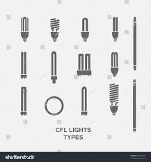 cfl light bulb base type icon stock vector 467694542